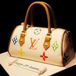 louis vuitton handbag cake - Cake by Symphony in Sugar