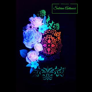 Fluorescent wedding cake