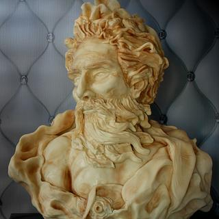 ZEUS sculpted cake