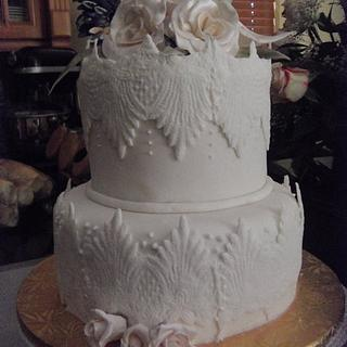 Lace elegance - Cake by Tania Garcia