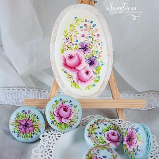 Handpainted Cookie & Macarons