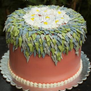 leaf and flower cake