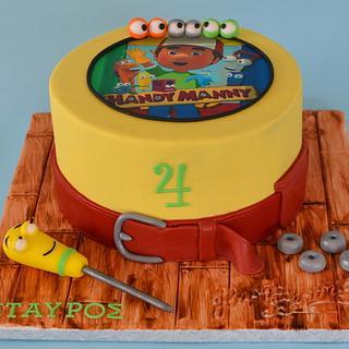 Handy Manny cake