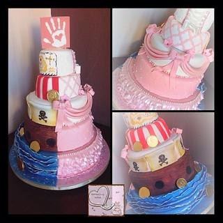 Half and Half Princess and Pirate 5 tier
