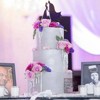Ganached wedding Cake