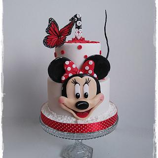 Minnie and butterfly