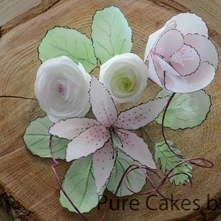Waferpaper Flower Bouquet