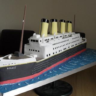 Titanic Birthday Cake