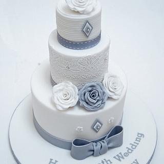 Diamond anniversary - Cake by The Chain Lane Cake Co.