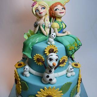 FROZEN Fever cake by MR SUGARCIOK - Cake by Massimiliano colla