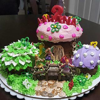 Fairy tale garden themed cake - Cake by Niyati