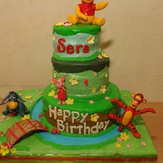 Winnie the Pooh - Tiered Birthday Cake