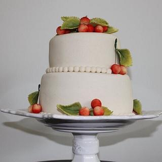 Marzipan Cherries Cake