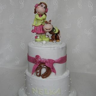 Birthday cake for Nelka - Cake by lamps