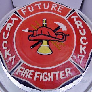 Firemans buttercream cake - Cake by Nancys Fancys Cakes & Catering (Nancy Goolsby)