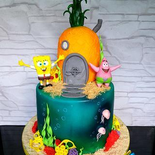 Spongebob pineapple cake