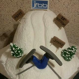 Ski Mountain Cake