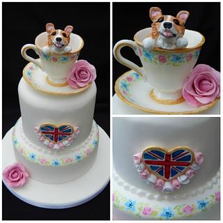Queens Corgi Birthday cake