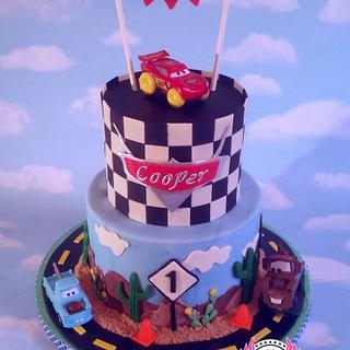 Disney Cars Themed First Birthday Cake