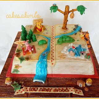 100 Aker Wood Book Cake