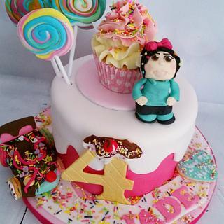 Sugar Rush - Princess candy - Cake by JojosCupcakeMadness