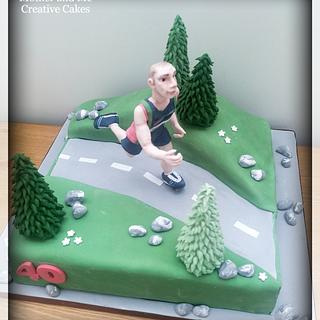 Marathon runner  - Cake by Mother and Me Creative Cakes