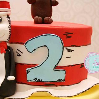 Cat in the hat - Cake by Sweet Cravings Toronto