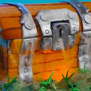 Treasure Chest Cake (from the game Fortnite)