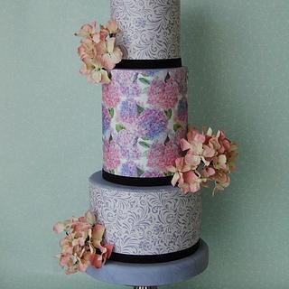 Wedding cake hydragina - Cake by Marek