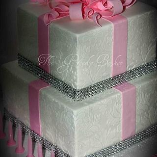 40th Pink Bling Cake