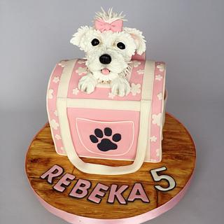 Doggie in the bag - Cake by Layla A