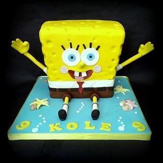 spongebob squarepants 3d cake