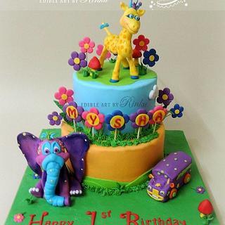 GiggleBellies Theme Birthday Cake - Cake by D Cake Creations®