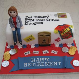 Retirement cake for special lady! - Cake by Deborah Cubbon (the4manxies)