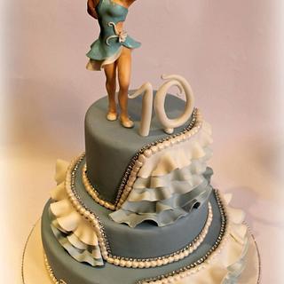 Latin American dance cake
