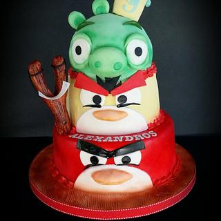 Angry Birds - Cake by LiliaCakes