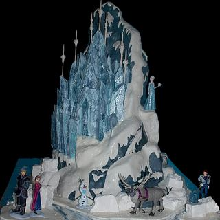 Frozen Ice Palace and Mountain CAKE