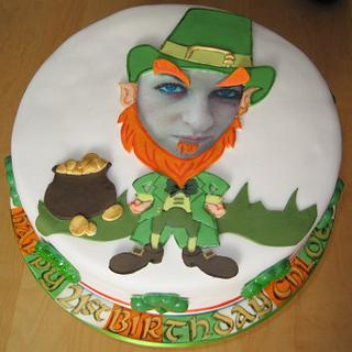 St Patrick's Day 21st Birthday Celebration Cake