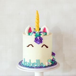 Rainbow Unicorn - Cake by Anchored in Cake