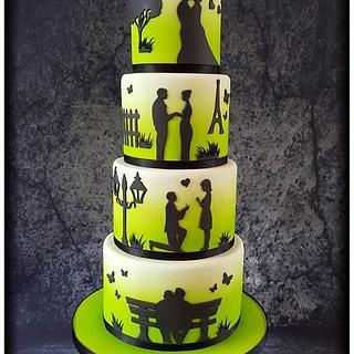 Love Story Wedding Cake - Cake by Taaartjes