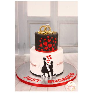 Silhoutte love - Cake by Félicitations