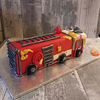 Fire brigade truck