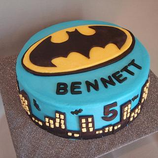 Batman Cityscape Cake