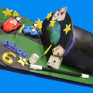 Magician Top Hat With Racing Bunnies!  - Cake by Yari