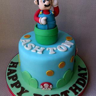 Super Mario Themed Cake