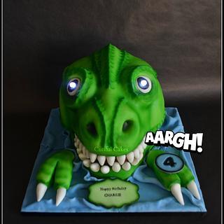 Gluten-Free Dino cake