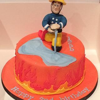 Fireman Sam 2nd Birthday Cake