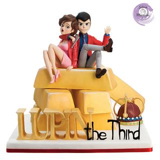 LUPIN THE THIRD - CAKE CON COLLABORATION  - Cake by Silvia Mancini Cake Art