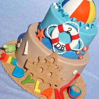 Beach Ball Party - Cake by Lesley Wright