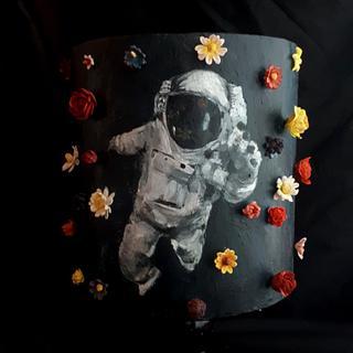 Space man cake
